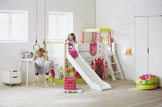 Flexa White Miniloft med rutschbana