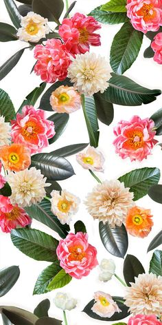 Flower Party Traditional Wallpaper - Prepasted & Removable