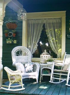 Porch in Love but I would take the ruffled curtain down !