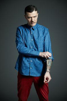 #Derriere fall/winter 2014 #dderriere #denim #jeans #Camicia #Shirt mod. #ArtBlueFlower #Pantalone #Pant mod. #EasyFit col. #Blood