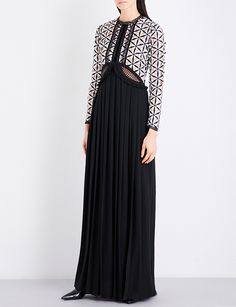 a14d2778d23 SELF-PORTRAIT Cutout guipure lace and crepe maxi dress