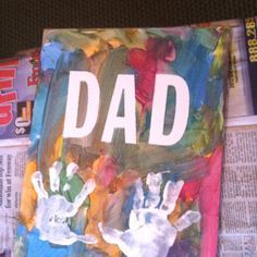 Handprint Canvas | DIY Fathers Day Gifts from Kids