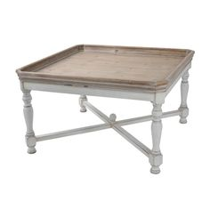 A&B Home Alcott Square Coffee Table - $303.99 | OJCommerce Coffee Table With Shelf, Glass Top Coffee Table, Coffee Tables, Wooden Tv Stands, White Table Top, Tray Styling, Table Furniture, Gray Furniture, Wooden Furniture