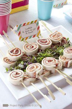 Birthday Food Ideas For Kids Appetizers Tea Sandwiches 65 Ideas For 2019 Pinwheel Sandwiches, Tea Sandwiches, Rolled Sandwiches, Appetizers For Kids, Appetizer Recipes, Good Food, Yummy Food, Snacks Für Party, Mini Foods