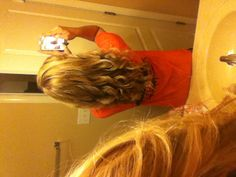 curly hair(: curled by a wand(: