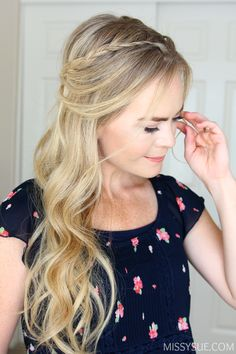 I recently saw a picture of Lauren Conrad and was inspired to recreate her bohemian style braids. This is a great technique because the braids aren't as difficult to recreate as they might seem and you can style them two different ways, as a half…