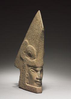 Hacha with Human Face, 600-1000 Mexico, Veracruz, San Andres Tuxtla, late Classic period