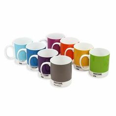 just gave these Pantone mugs to someone in Chicago as a host gift but the espresso version.