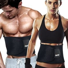 6016e00588 Astir Waist Trimmer Ab Belt For Women MenExtra Long 44 Extra Wide 9 Extra  Flexible Sweat Belt with Maximum Abdominal CoverageNonSlip Surface for Max  Waist ...