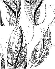 Le Creazioni di Kiara: crazy for DOODLING #9 ...FEATHERS... piume piumette e piumaggi!