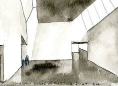 "Steven Holl gets up early every day to paint, usually in watercolour. He invokes philosophy & science & endows his projects with poetic names, such as Writing With Light House or The Tower of Silence. He ponders the qualities of daylight and of building materials, their roughness, smoothness, patination and porosity. He likes the word ""haptic"". He says things such as: ""Building transcends physical requirements by fusing with a place, by gathering the meaning of a situation."""