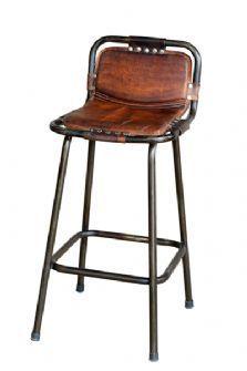Comfortable industrial bar stool