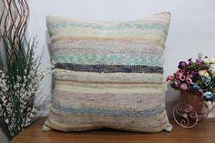 kilim pillow 24x24 turkish pillow floor cushion anatolian #etsy #pillow #handmade