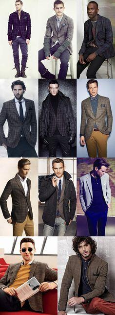 Men's Checked Blazer Lookbook