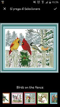 Birds cross stitch Uccellini punto croce