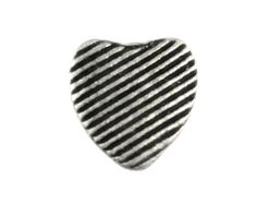 Heart Metal Buttons  Linear Heart Antique Silver by Buttonova, $3.90