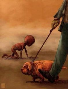 drawings with deep meaning Meaningful Pictures, Powerful Pictures, Photo Triste, Deep Art, Social Art, Political Art, Wow Art, Amazing Art, Horror