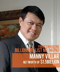 Billionaires in the Philippine Real Estate Industry: Manny Villar