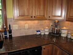 Backsplash Ideas For Oak Cabinets | Backsplash in remodeled kitchen in Anderson Township, Cincinnati, Ohio