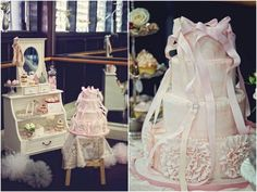 fondant ruffles cake for a ballerina party by Sweet Bloom Cakes via TomKat Studio with styling by My Little Jedi........wow this is beautiful