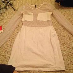 Mesh cut out dress White mesh cutout dress. Long sleeve dress. Worn once. In good condition. Best for size small or probably even XS. Not Nasty gal but they had something really similar. Make offers!!! Nasty Gal Dresses Mini