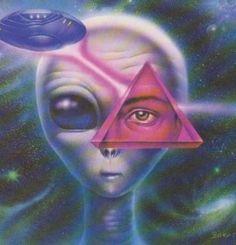 Our cosmic gardeners & hybrid destiny – alien abduction Psychedelic Art, Aliens And Ufos, Ancient Aliens, Alien Aesthetic, Grey Alien, Psy Art, Alien Abduction, Space Aliens, Alien Art