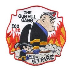 """Engine 62 / Ladder 32 """"Gun Hill Gang"""" Patch in New York #FDNY #patch"""