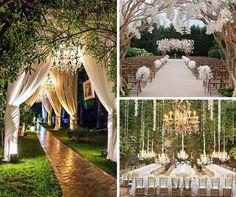 We love the idea of a romantic secret garden theme wedding!