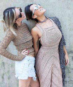 Fabulous Crochet a Little Black Crochet Dress Ideas. Georgeous Crochet a Little Black Crochet Dress Ideas. Vanessa Montoro, Crochet Pants, Crochet Skirts, Crochet Clothes, Moda Crochet, Crochet Lace, Crochet Pattern, Crochet Woman, Crochet Fashion