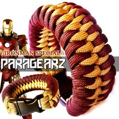 //IRONMAN themed paracord bracelet!