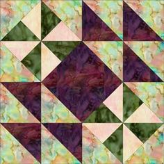 Hither and Yon Quilt Block Pattern