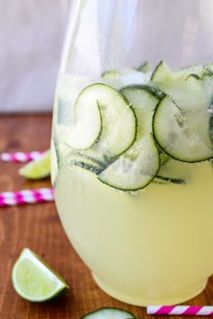 Easy Cucumber Lime Punch from The Food Charlatan // Only 4 ingredients and so refreshing! Perfect for spring.