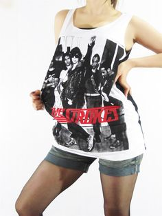 THE STROKES Indie Rock Julian Casablancas Tank Top Women Shirt White Shirt Vest Tunic Top T-Shirt Singlet Sleeveless Rock Shirt Size M L. $15.99, via Etsy.