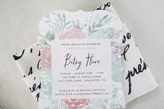 Pastel Bridal Shower Invitation | TrueBlu | Jeff Frandsen Photography