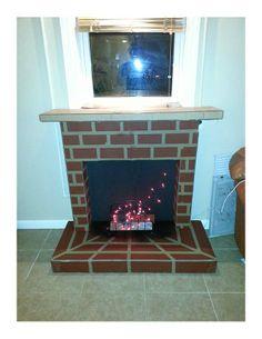 DIY Cardboard Fireplace - Imgur