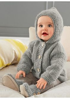 Free pattern:  Grey hooded coat, Cat. 15/16 - #191