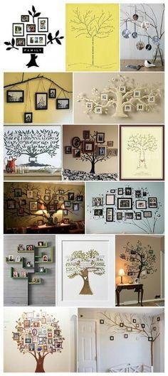 Ideas Family Tree Crafts Decor For 2019 Tree Crafts, Diy Crafts, Family Tree Wall, Family Trees, Family Tree Picture Frames, Family Tree Photo, Picture Tree, Photo Tree, Creation Deco