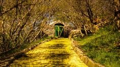 """Ainda não é assustador o bastante para você? Dê uma olhada nesta imagem de um parque temático do Mágico de Oz abandonado na Carolina do Norte """"O Land of Oz só foi acessível por teleférico na hora em que ele abria, então foi de várias maneiras um desafio."""""""
