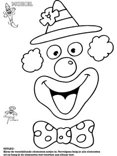 Imagine un clown Clown Crafts, Circus Crafts, Carnival Crafts, Clown Party, Circus Birthday, Circus Theme, Theme Carnaval, Clown Mask, Send In The Clowns