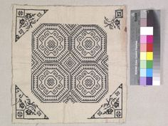 CLOTH SQUARE  ASIAN ETHNOGRAPHIC COLLECTION  Catalog No: 70.0/ 8462   Culture: CH'UAN MIAO  Locale: NORTHERN YUNNAN NEAR BORDER OF SZECHUAN  Country: CHINA  Material: CLOTH  Technique: CROSS-STITCH EMBROIDERY  Acquisition Year: 1940 (PURCHASE)   Donor: GRAHAM