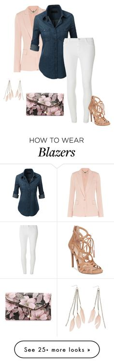 """""""The one with the Stella McCartney blush silk blazer."""" by candyce-waters on Polyvore featuring STELLA McCARTNEY, Dorothy Perkins, Jessica Simpson, Urban Expressions and Charlotte Russe"""