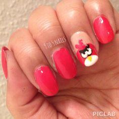 Angry Birds Nail Art