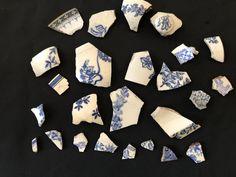 Fragments de Céramique / Faïence, Bleus pour Mosaïque, Picassiette.