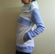 Ah I want this! POWDER BLUE - Hoodie Sweatshirt Sweater - Recycled Upcycled - One of a Kind Women - Small/Medium. via Etsy.