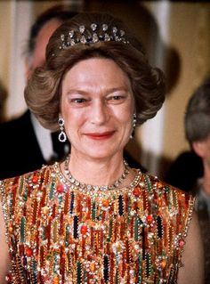 Congo Necklace Tiara, worn by GD Joséphine-Charlotte of Luxembourg. A gift from the Belgian colony of the Congo upon her marriage to Grand Duke Jean of Luxembourg in Royal Crowns, Royal Tiaras, Tiaras And Crowns, Nassau, Adele, Elisabeth, Sapphire Necklace, Royal Jewelry, Circlet