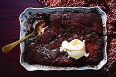 """""""When I arrived in Australia 20 years ago I was blown away with this country's love of a good pud. Sticky date pudding with butterscotch sauce and the rightfully venerated lemon delicious! That same self-sauciness blesses this pudding that's based on a recipe found in a vintage cookbook from Victoria."""" - Matt Preston"""