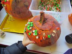 Pppppp is for pumpkin painting, pouring, pounding, and playdough play | Teach Preschool