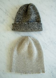 The Boyfriend Hat | Purl Soho - Create  2 strands of lace/sock wt on #3 needles