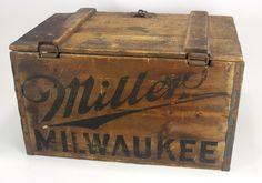 Miller Milwaukee Wood Beer Crate