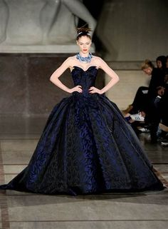 Supermodel Coco Rocha walked the runway for her close friend (and wedding dress designer) Zac Posen, at the Zac Posen Fall 2012 fashion show on Feb. 12. (Arun Nevader / Getty Images)